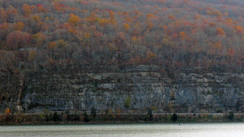 Cliffs at the base of Sand Mountain on the Tennessee River.