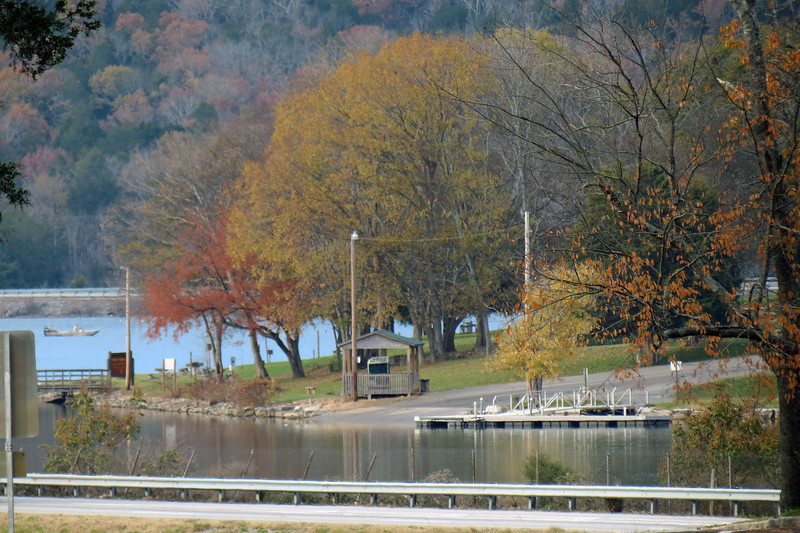 This is the boat ramp at Marion County Park, a popular campground that sits on a peninsula that sticks out into Nickajack Lake.