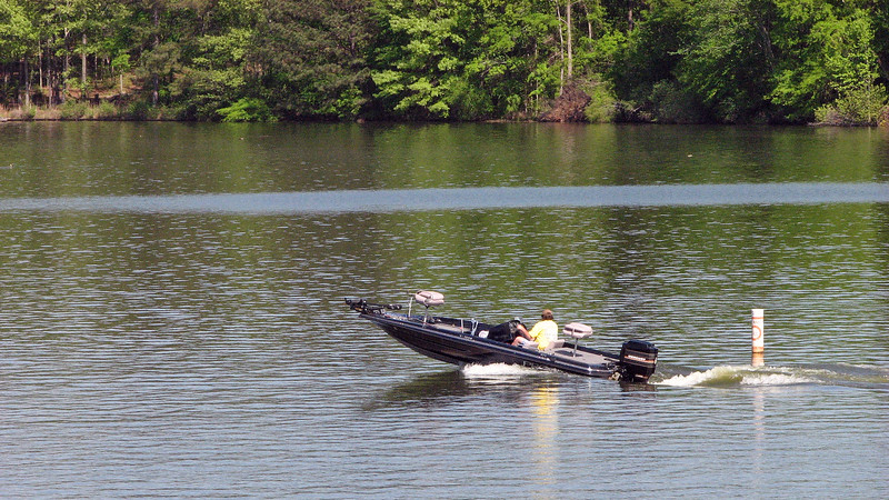 Lake Oconee is huge and a popular place for fishing and boating.