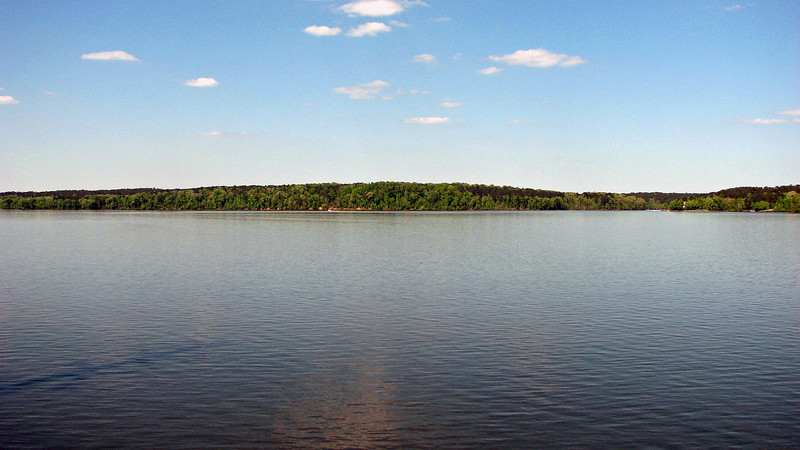 Looking out over Lake Oconee.