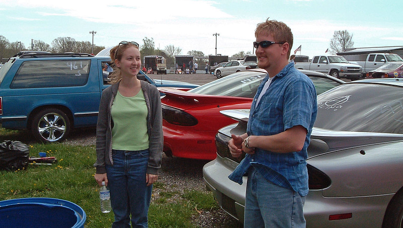 We did the same and brought friends Tia and Greg along.  Greg was racing his low-14 second stock Mustang GT.