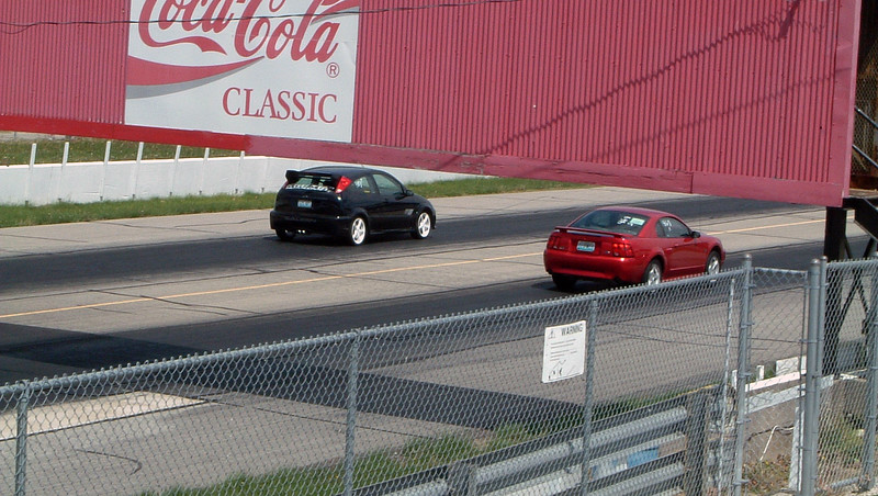 Greg's third time trial vs a Saleen Focus.
