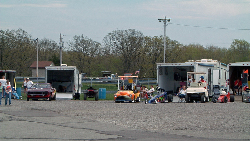 I spent some time wandering around the pits after eliminations where I saw several awesome modified golf carts.