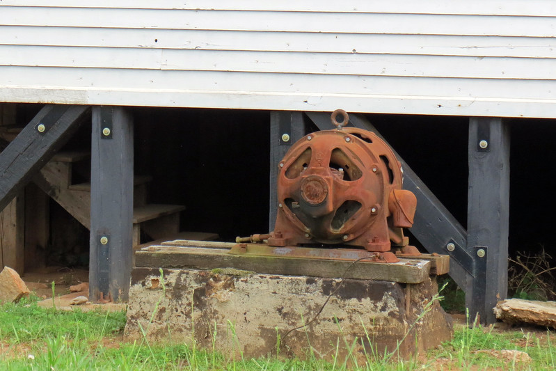 Old electric motor at the Braselton Rolling Mill builidng.