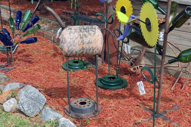 I liked the repurposed brake rotors.