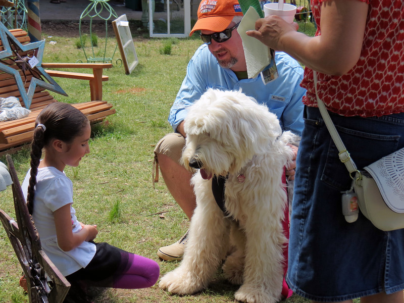 The Braselton Antique & Artisan Festival is a pet-friendly event.  We saw many enjoying the festival today.