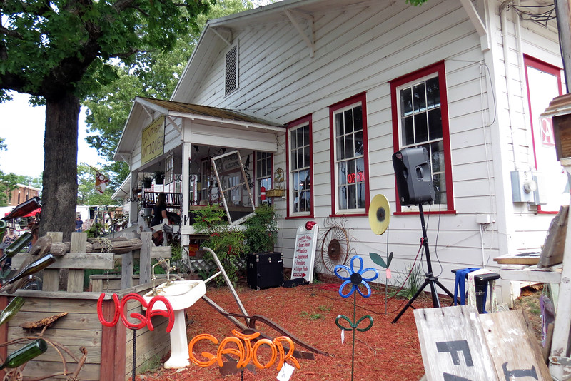 Braselton is known for its antique stores.  Countryside Antiques seen in the photo above had quite a display.