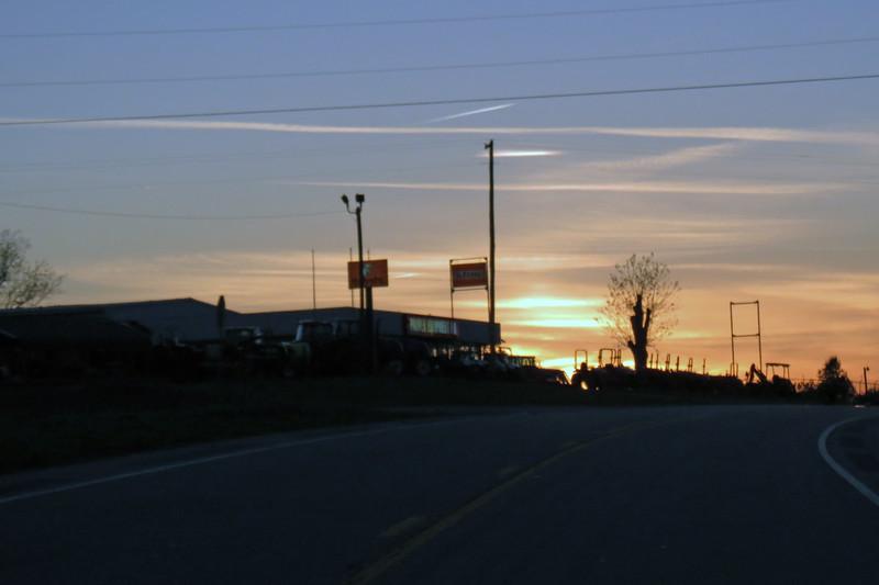 Heading west on US Route 78 West outside of Washington, GA.