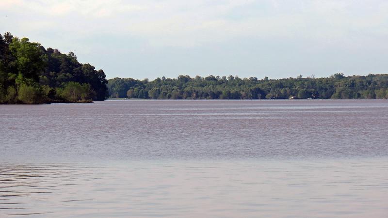 Looking north across Lake Oconee
