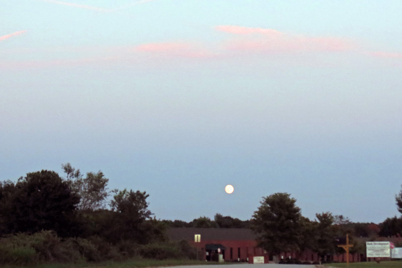 My friend, Danita, and I were on our way back from dinner on this evening and couldn't help but notice the moon.