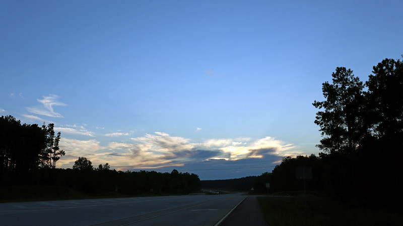 I also saw some dark clouds off to the west where I was heading.