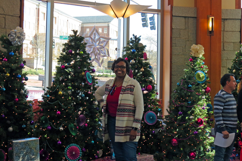 Everyone knows that taking pictures is my thing.  The festive decor makes for a great background which Felicia was happy to put to use.  The Bolton staff always does a great job with the decorations.