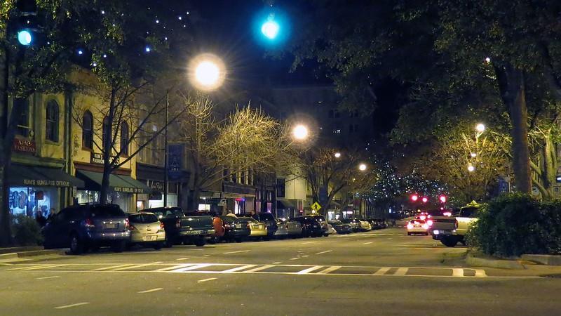 Looking east on Clayton Street.