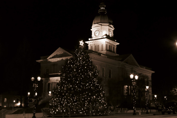 December 15, 2012:  Christmas lights in downtown Athens, Georgia .  .  .
