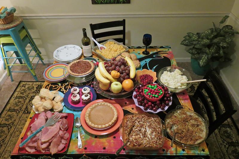 My friend, Danita, invited me over for Christmas Eve dinner.