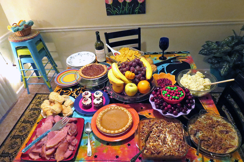 This was more of a traditional Christmas feast and featured all of the standards.