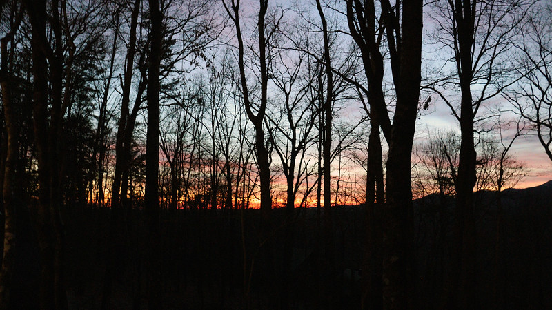 We headed back to the cabin and were treated to a beautiful sunset to finish this Christmas day.