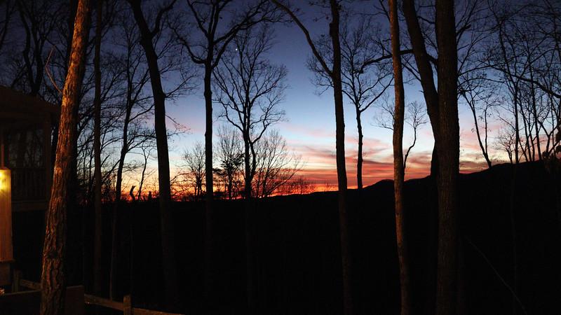 A Christmas Eve sunset.