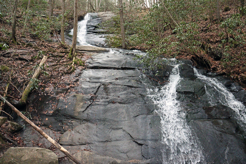 Fall Branch Falls consists of two cascades with a total height of around 75 feet.