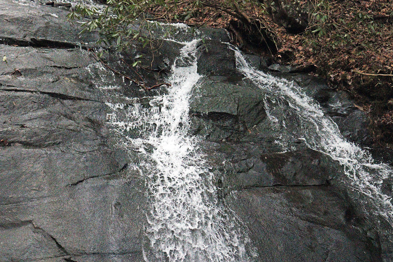 The lower cascade of Fall Branch Falls.