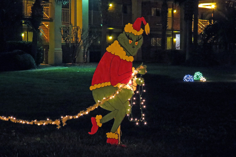 The Grinch was on hand to try and steal the lights.