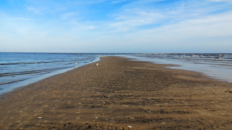 This sandbar is actually quite large.  A significant walking path is available at low tide.