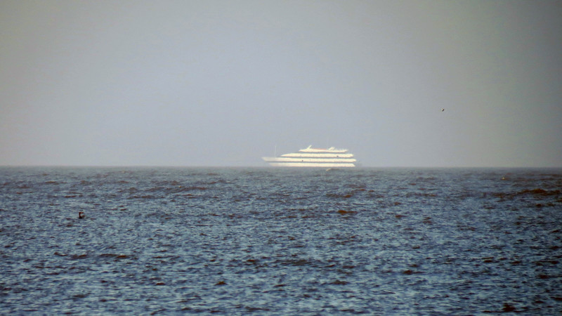 I spotted what looks like the Emerald Princess Casino ship off in the distance.