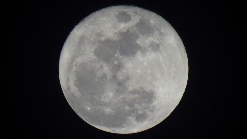 A rare Christmas Day full moon.