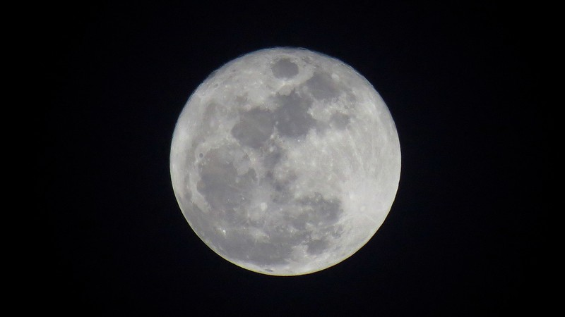 Mother Nature treated me to clear skies and a beautiful full moon.