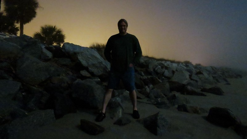 The camera seemed to have an easier time focusing on me with the rocks in the background.
