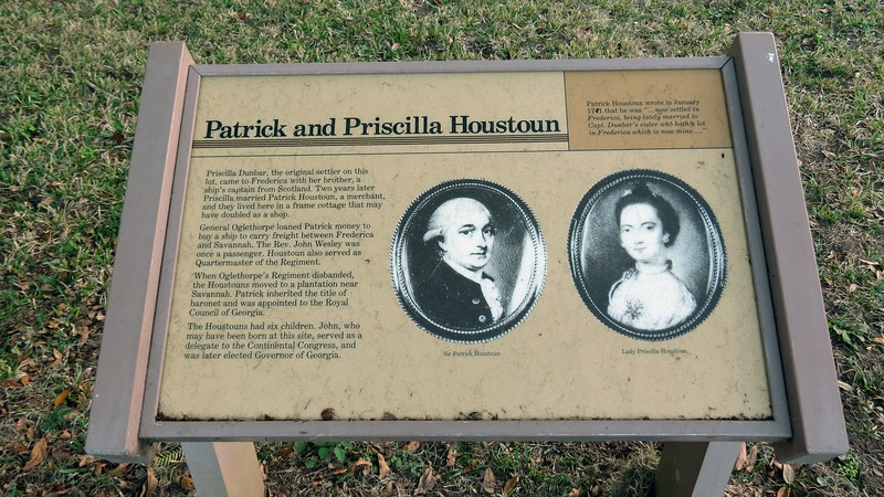 The home of Merchant Patrick Houstoun and his wife Priscilla is thought to have been made of wood.