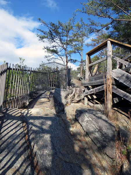 The viewing area at Overlook 2 is larger than that of Overlook 3, but is a bit more difficult to navigate due to the rocks and the slope.  This area appears to be built directly into the rocks on the side of the gorge walls.