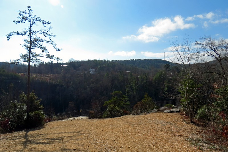 After a short walk that didn't seem to be anywhere near the .25 mile advertised length, I had arrived at the first overlook.