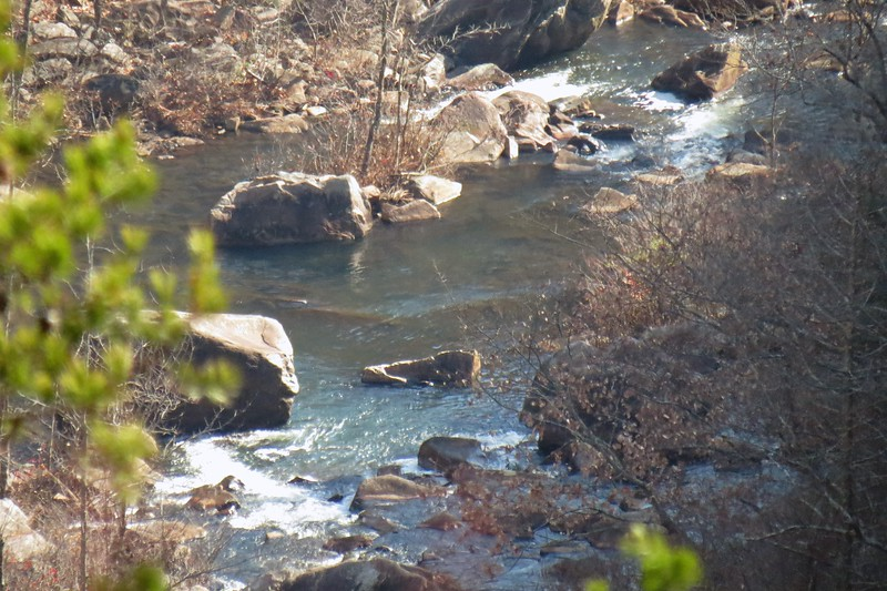 Zooming in on the Tallulah River.