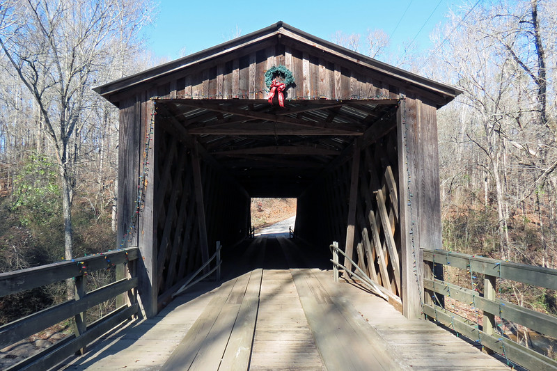 The 99-foot long bridge was built in 1897 by Nathaniel Richardson.