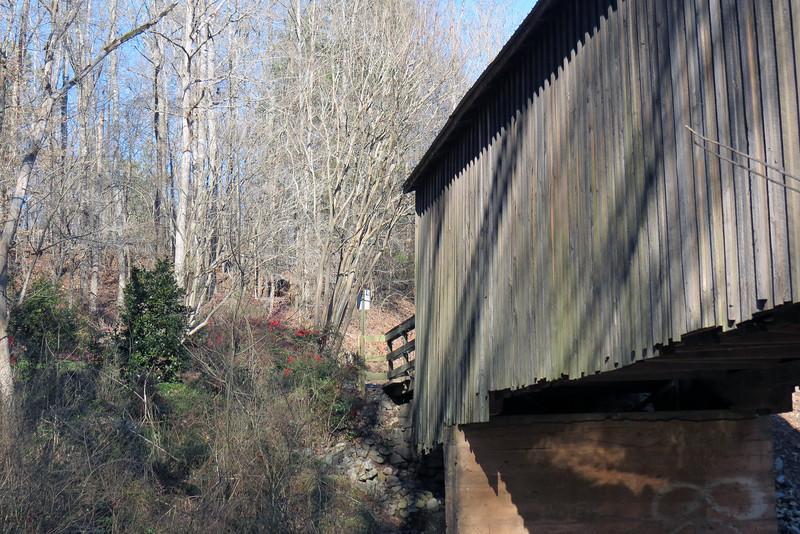The bridge originally carried traffic across Calls Creek in Watkinsville, but was moved to this location in 1924.