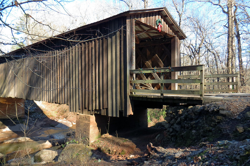 The bridge's name is a reference to the mill owned by the Elder family to which this bridge provided access.