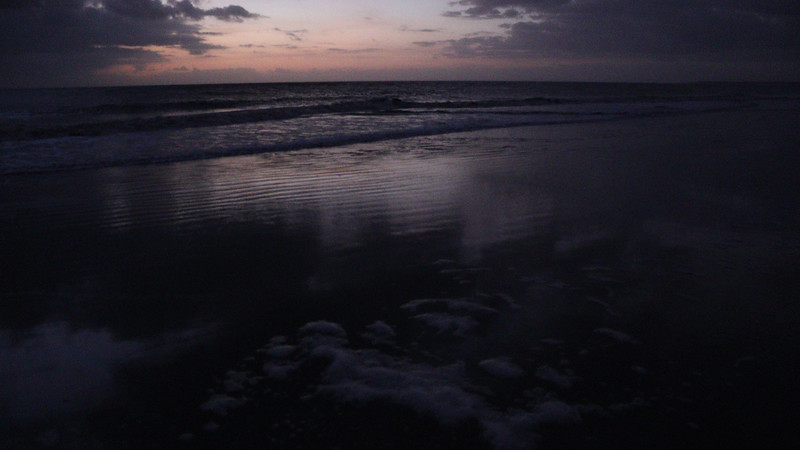 In several of these photos, not only was I able to capture the sea foam, I also got the reflection of the clouds in the shots as well.