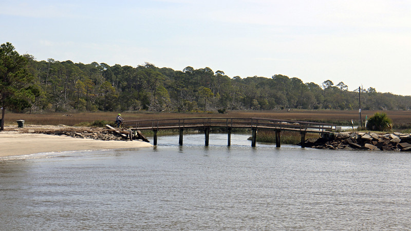 The Clam Creek Picnic Area offers access to Driftwood Beach via the bridge seen in the photo above.  This is the point where the North Loop Trail and Driftwood Beach Trail intersect.