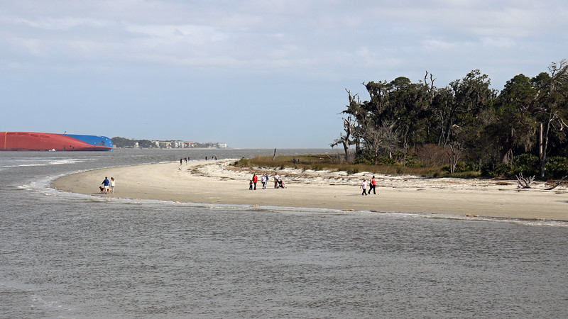 Beach access is immediately past the bridge and leads to the northern tip of the island and the end of Driftwood beach.