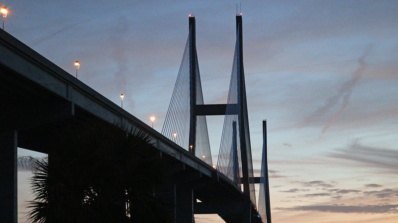 The Cable-Stayed design of the bridge is visible in the photo above.