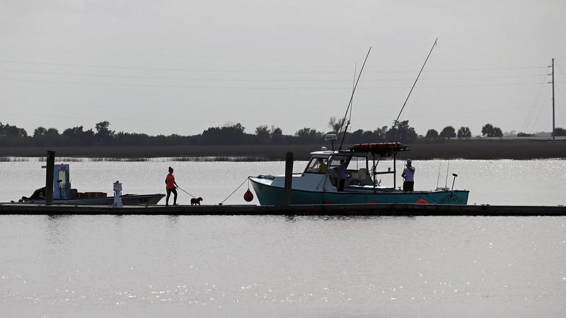 Boats docked at the Jekyll Island Club Marina.
