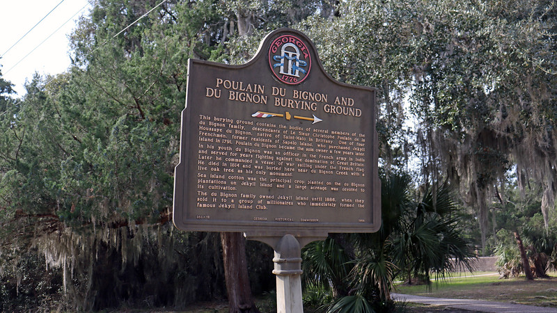 "Poulain and his descendants owned Jekyll Island until 1886 when the island was sold to the newly formed ""Jekyll Island Club.""  Several members of the duBignon family are buried on the property.  The duBignon Cemetery is located across the street from the family home, (i.e. the William Horton House)."