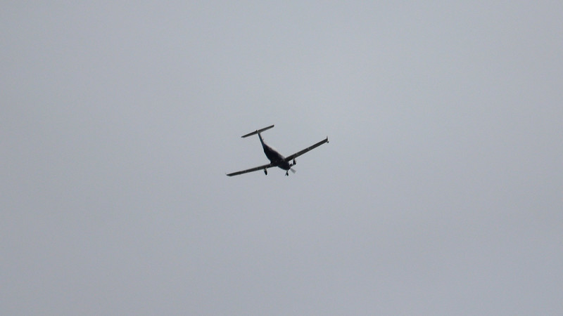 Zooming in on the air traffic overhead.