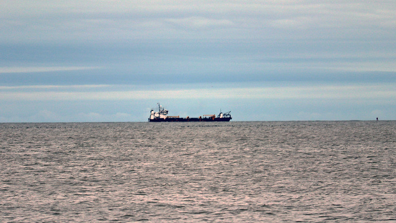 Another bulk carrier off in the distance.