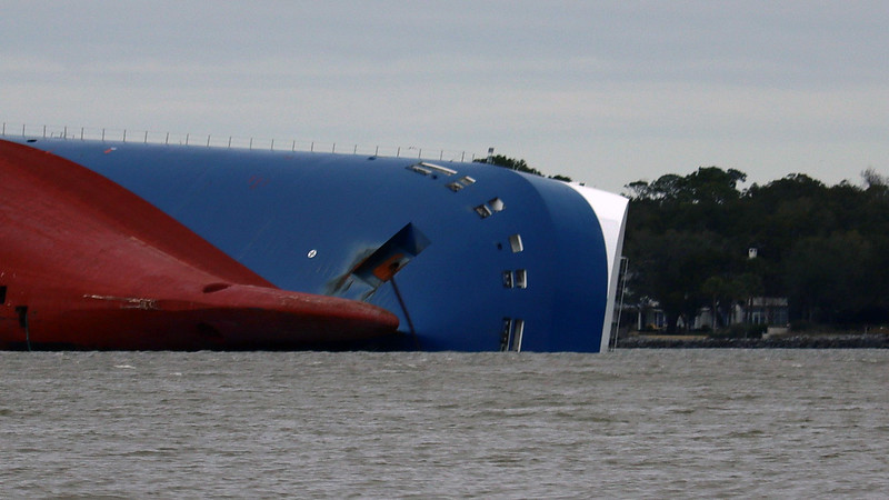In October 2019, recovery experts determined that there was no way to refloat the ship so it could be towed away.  So a plan is in the works to scrap the ship onsite, (i.e. cutting it into pieces and hauling them, and all the cars inside the cargo hold, away), in a process that may last through the rest of 2020.