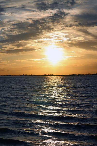 Sundown at St. Andrews Beach.