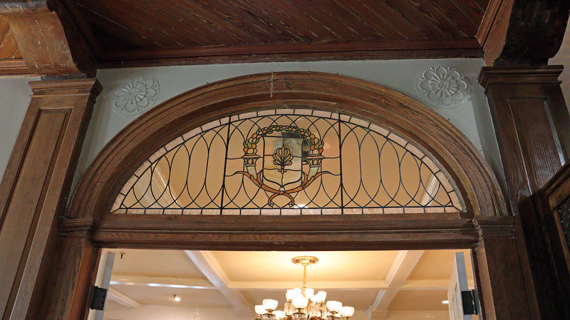 Another stained glass window, this one at the entrance to the Grand Dining Room.