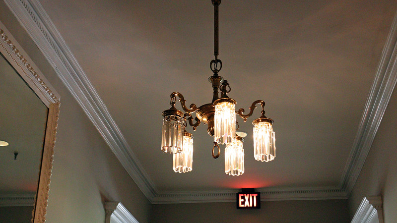 I'm guessing that this chandelier is original to the hotel, but I don't know for sure.