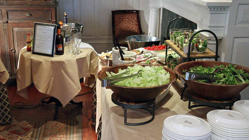 Salad table.
